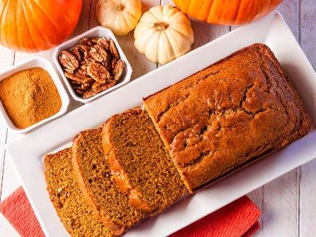 Лесен постен кекс с тиква и орехи - снимка на рецептата